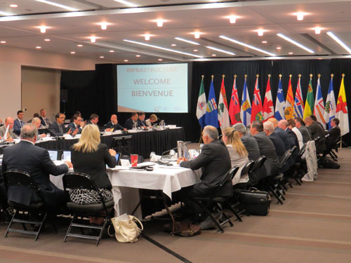Federal, provincial and territorial infrastructure Ministers in Edmonton, September 2016.