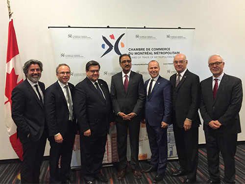 Meeting at the Montreal Chamber of Commerce, May 2016.