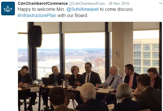 Image 5: Meeting at the Canadian Chamber of Commerce.