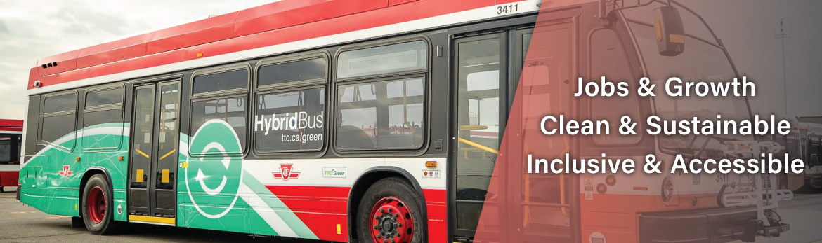 Tab 2: Investing in Clean & Sustainable Infrastructure (New TTC hybrid electric bus fleet, Toronto, ON)