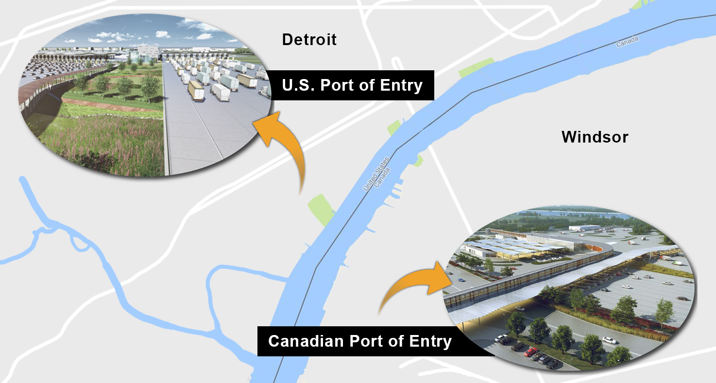 Gordie How International Bridge ports of entry